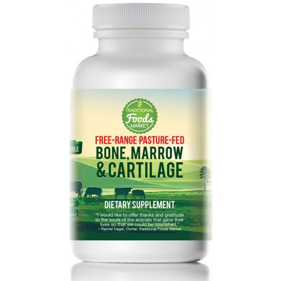 Free-Range Pasture-Fed Bone Marrow and Cartilage, 3.5oz