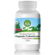 Free-Range Pasture-Fed Organic Colostrum, 4oz